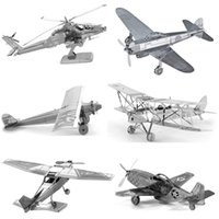 Wholesale Various Kinds Fighter Aircraft Plane Helicopters D Metal Puzzle For Adult Educational Toys Jigsaw Puzzle Kids Toys For Boy