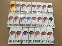 Wholesale KYLIE JENNER LIP KIT liner Kylie Lipliner pencil Velvetine Liquid Matte Lipstick in Red Velvet Makeup Lip Gloss Make Up colorful