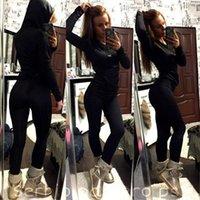 Wholesale New Womens Tracksuit Hoodies Sweatshirt Pants Sets Lady Sport Wear