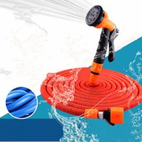 hose Natural latex  Garden watering irrigation Hose water pipes with 7 function spray gun 25 50 75 100FT expandable flexible water hose Garden reels EU US type
