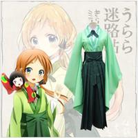 Anime Urara Meirochou Cosplay Costumes Natsume Nono Ensembles de vêtements Kimono Uniform Dress Role Party Wear (Tops + Chemise + Pantalon + Cravate)