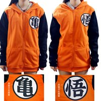 Wholesale Anime around cos seven dragon beads male and female turtle word thick plus velvet zipper hooded cosplay sweater