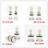 Wholesale 4 Sizes For Choose Women Breast Nipple Sucker Clitoris Massager Nipple Clamps Pump Breast Enlarger Vibratinng Sex Toys