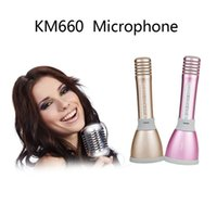 al por mayor bt micro-2017 Mini micrófono de mano del bluetooth del karaoke con el LED, tarjeta micro del SD microfono sin hilos handheld del micrófono altavoz micro del teléfono BT