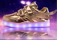 Bébés filles formateur tenis LED Light Chaussures Toddler Anti-Slip Sports Bottes Kids Sneakers enfants Cartoon Flats enfants chaussures