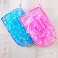 Wholesale Factory Price Exfoliating Glove Skin Body Bath Shower Loofah Sponge Mitt Scrub Massage Spa b1167