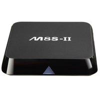 al por mayor el brazo de cuatro núcleos-M8S II 2G + 16GB S905 Cuádruple Android Android TV Box ARM Mali-450 Bluetooth WIFI HDMI 4K