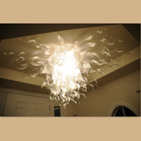 Wholesale white modern crystal chandelier Murano glass chandelier led light bulbs Chandelier for dining room entrance hall