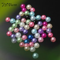 art packing materials - pack Mixed Color Bead Flatback Acrylic Half Pearl Beads Sewing Craft Scrapbooking Home Decor DIY Material Accessories
