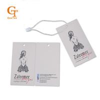 achat en gros de badges imprimés-Pparel Couture Textile Garment Tags personnalisé logo marque papier prix accrocher étiquette, la personnalité boutique nom d'impression d'achat des étiquettes de bagages étiquettes ...