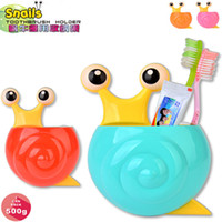 Wholesale Snail Cartoon Sucker Toothbrush Holder Cute Suction Hook Tooth Brush Cup Tool Bathroom Accessories