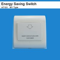 Wholesale Hotel rfid card energy saving switch saver M1 S50 type HF MHz promixity contactless card switch insert card take power V A