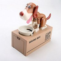 Wholesale Mechanical Adorable Puppy Hungry Robotic Dog Coin Bank Save Saving Money Box Collection Piggy Bank Gift