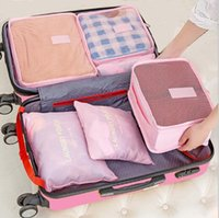 best travel clothing - Travel Bag Organiser Waterproof Piece Set Bags Fashion business Trip Tidy Bag Clothes Cosmetic Washing Handbag Best Sale