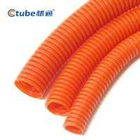 Wholesale Home Decoration Electrical Installation mm inches Red Color PVC Corrugated Conduit Pipe PVC Conduit Fitting Pipe Fitting m Pack