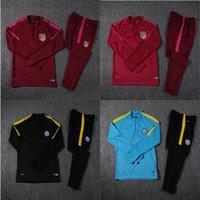 best nylon feet - Best quality New city black blue suit Jerseys Madrid Jujube red foot Training suit