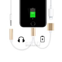 audio jack convertor - Dual Layer Cable to mm Aux Headphone Jack Audio Cable For iPhone USB Data Adapter Connector V8 Cable Convertor Charger OPP Package
