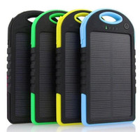 Wholesale 5000mAh Solar Charger and Battery Solar Panel port Fast charging environmentally friendly products DHL send goods