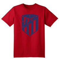 Crew Neck atletico madrid shirts - 2017 NUOVO logo Atletico Madrid T Shirt Camiseta Cotone fatto a mano di Alta qualità Tees T Shirt Carrasco Saul Niguez Griezmann fan