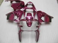 al por mayor zx9r púrpura-Juego de carenado para Kawasaki Ninja ZX9R 2000 2001 carenados de motocicleta negro púrpura set ZX9R 00 01 PJ02