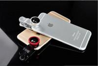Wholesale 3 in Universal Clip Fish Eye Wide Angle Macro Phone Fisheye glass camera Lens For iphone note smart phone USZ016