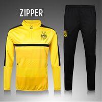 Wholesale 2016 Dortmund training suit t football athletic wear long sleeved pants shirt