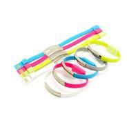 Wholesale Sharp Bracelets Wholesale - Portable wrist Bracelet sync charging Micro USB Data charger Cable For samsung S4 note 4 htc