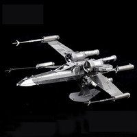 Wholesale 3d metal laser cut assembly model d metallic nano puzzle toys star wars musical instrument d building puzzle Chirstmas gifts TIE Fighter