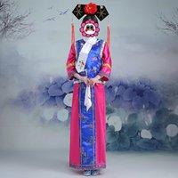 Wholesale The Qing Dynasty Princess Costume high grade Huanzhugege Hanfu gongsuo bead shade wear women s ancient Manchu court dress