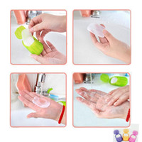 Wholesale NEW Creative Portable Paper Soap Washing Hand Bath Slice Sheets Scented Foaming