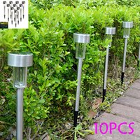 Wholesale 10pcs Solar panel LED Spike Spot Light Spotlight Landscape Garden Yard Path Lawn Solar Lamps Outdoor Grounding Sun Light