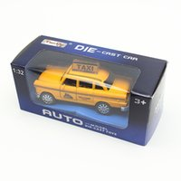 Juguetes Aficiones Diecastes Vehículos de juguete MyLitDear Musical Classic Juguetes Taxi Alloy Car Model Amarillo Diecast Toy Car Hot Wheels 1:32 Toys For