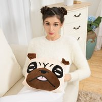 Wholesale Hot water bag charge baby warm water injection explosion proof cute plush cloth and warm water bag to warm palace electric warming