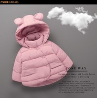 Wholesale Children new winter coat han edition girls to years baby cute bear ears cotton jacket