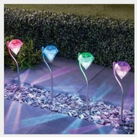 Wholesale LED Solar Powered Diamonds Lawn Light Solar Light Pathway home Garden Path Stake Lanterns Outdoor Lamps