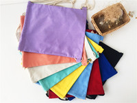 Wholesale 10pcs New Arrival Candy blank DIY Women Backpack cotton Canvas Drawstring Bag storage bag shoe case Outdoor cm