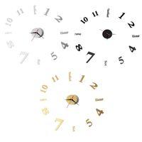 Wholesale Black Gold Silver Large Silent Quartz Wall Clock Movement DIY Hands Mechanism Inches