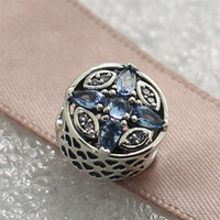 bead heart pattern - 2016 Christmas S925 Sterling Silver Patterns of Frost Charm Bead with Crystal Fits European Pandora Style Jewelry Bracelets Necklace