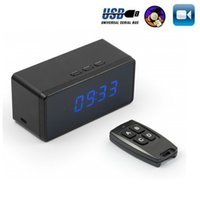 Wholesale Portable P Remote Spy Hidden Camera Clock Motion Activated Video Recorder Indoor Home Office Security DV Camcorder LCD Screen Wide View