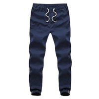 Wholesale New Mens HIP HOP Trouser Ankle Jogger Pants with elastic cuffed Men Track Pants embroidery Pocket Pantalones Hombre MA028