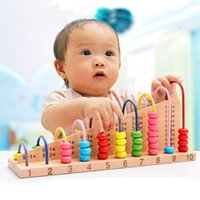 Wholesale Novelty Funny kids abacus counting beads math learning wooden toys wisdom development toy Birthday Gifts