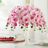 Wholesale 78cm Best Simulation Butterfly Orchid Phalaenopsis Flower Home Decorative Flowers Party Wedding Event Decoration Hot Sale