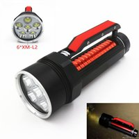 Wholesale 200m Underwater Scuba Diving x CREE XM L2 T6 Lm LED Light Flashlight Torch Lamp Waterproof Diver Lamp Lanterns