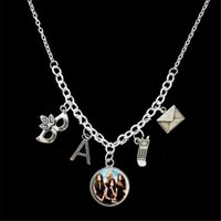 Pendant Necklaces pretty little gifts - 12pcs Pretty Little Liars Themed Statement Charm Necklace silver tone