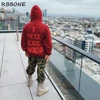 big mens outerwear - Mens xxxl hoodies fall winter clothing i feel like pablo sweatshirt men big size red blue hoody outerwear