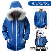 Wholesale New Undertale Sans Hoodie Coat Sweatshirt Cap Cosplay Costume Zipper Outer Otaku Sweatshirts Hoodie for Christmas gift