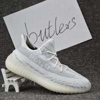 Cheap 2017 With Box Adidas Originals Yeezy 350 Boost V2 Running Shoes Men Women Hot Sale SPLY-350 Yeezys Gray White Sports Shoes Size Eur 5-11.5