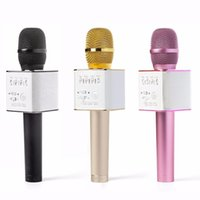 Wholesale 2017 Original Brand Q9 Magic Bluetooth Karaoke Microphone Wireless Professional Player speaker With Carring Case For Iphone Android