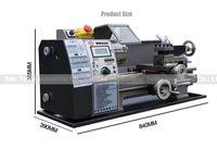 Wholesale Small Lathe Machines - Hot sale!! Best price Small household lathe machine stepless variable speed 600w  210*400mm horizontal mini hobby lathe machine