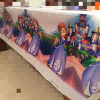 Wholesale Princess Sofia disposable tablecover cartoon tablecloth event party supplies birthday party decorations kids Wedding Decoration